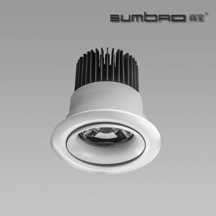 SUMBAO DW066 SUMBAO Professional Round Trim 10W Low Voltage Recessed Spotlights for High End Retail Shops, Residences Application LED Recessed Spotlight image4