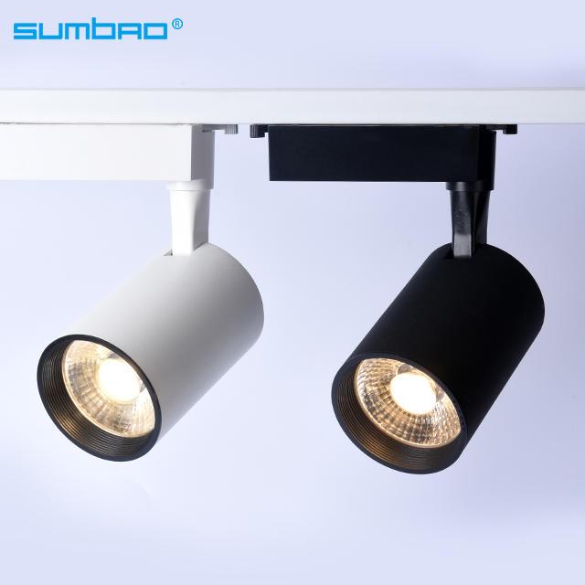 TK067 12w18w 24w COB LED track spotlight adjustable dimming lighting 3 phase anti-glare office clothing furniture shop living room