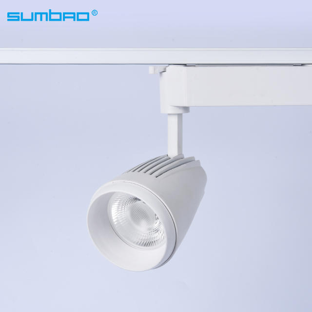 TK031 18w 20w 35w COB LED spotlight adjustable dimming track lighting 3 phase anti-glare office clothing furniture shop bathroom