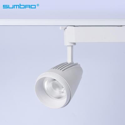 TK031 18w 20w 35w COB LED spotlight adjustable dimming track lighting 3 phase anti-glare office clothing furniture shop bathroom