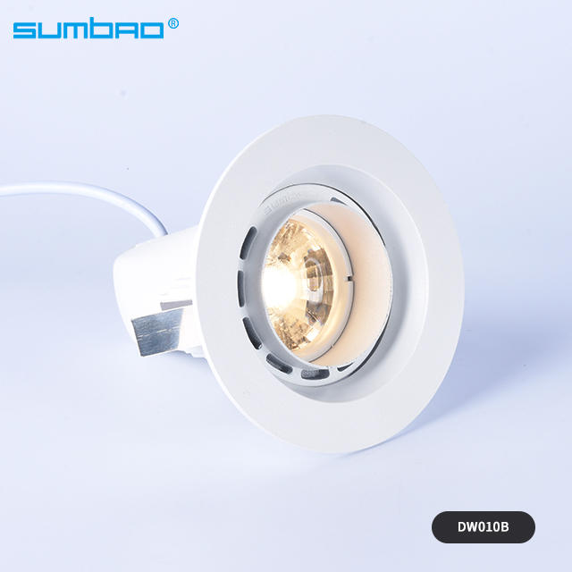 DW01OA/DW010B 6w,10w anti-glare led mini round COB led recessed spotlight reflector cup wall washer light lens light indoor