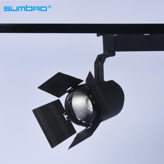 33w COB LED track spotlight round dimming flicker free lighting 3 phase anti-glare mini smart clothes shop