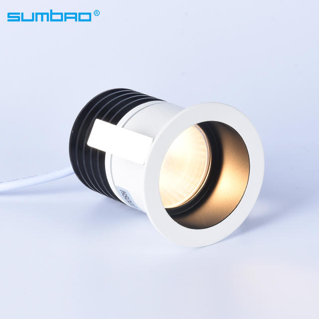 High grade 6w COB led round recessed spotlight dimming deeply anti-glare led mini smart spotlight hotel wall wash metal texture
