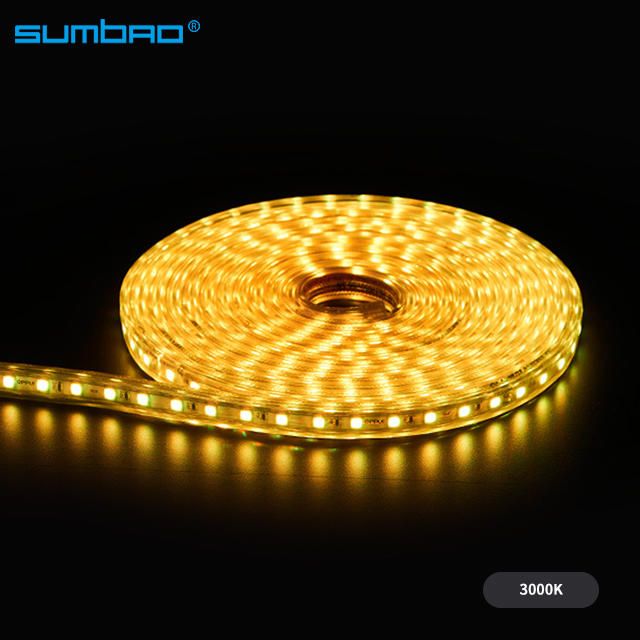 High voltage 230v flexible led strip high lumen decorative light waterproof corridor garden hotel room bar indoor outdoor stair