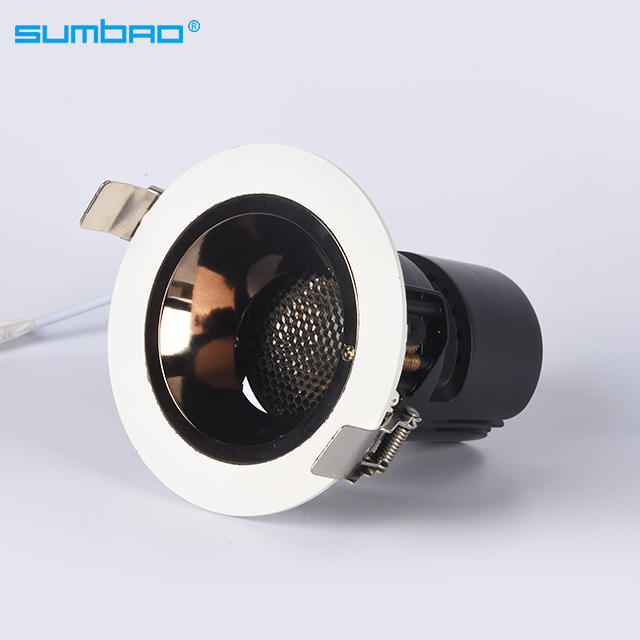 HS041 high grade 18w 24w COB led round recessed spotlight dimming deeply anti-glare led mini smart spotlight hotel wall washer corridor