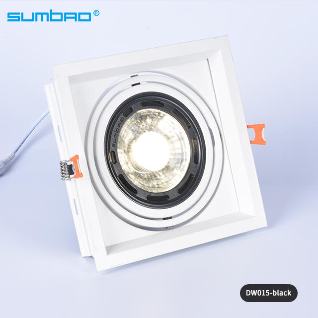 Hot selling DW015 18w,24w led recessed square dimmable spotlight anti-glare adjustable beam angle with 155mm cut out