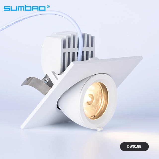 Hot-selling DW016A/B 10w,15w led recessed lamp round dimmable spotlight anti-glare adjustable beam angle wall washer with 85mm cut out