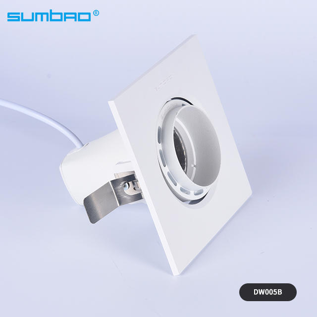 6w 10w COB led square recessed lamp dimmable adjustable white anti-glare office clothes shop led mini spotlight wall washer