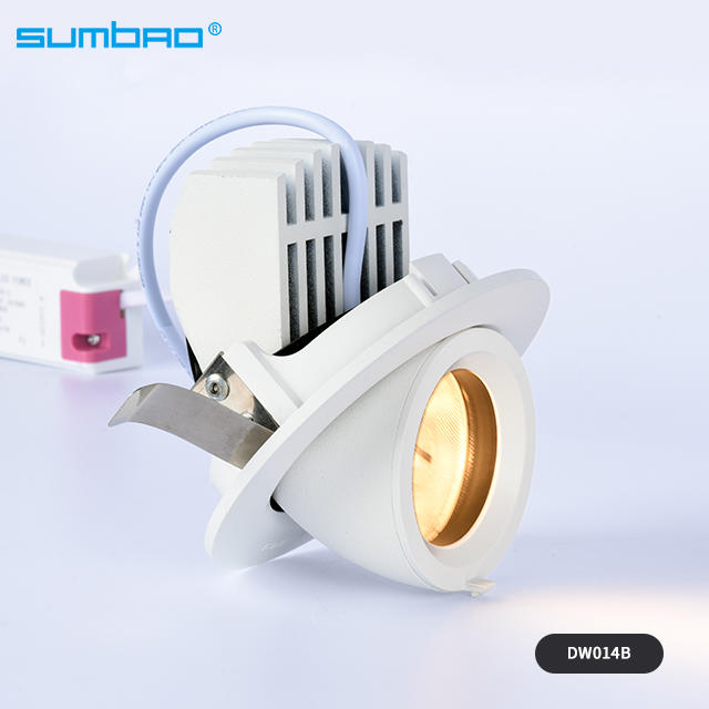 15w COB led recessed ceiling spotlight 90mm cut out dimmable smart anti-glare indoor  wall washer lamp