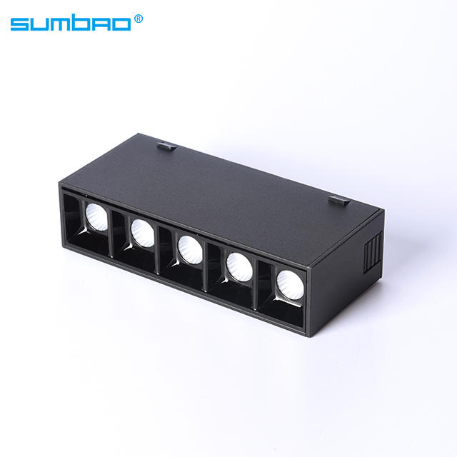 New design YDHCX-C  low voltage 48V magnet track lights rail system black led wall track light