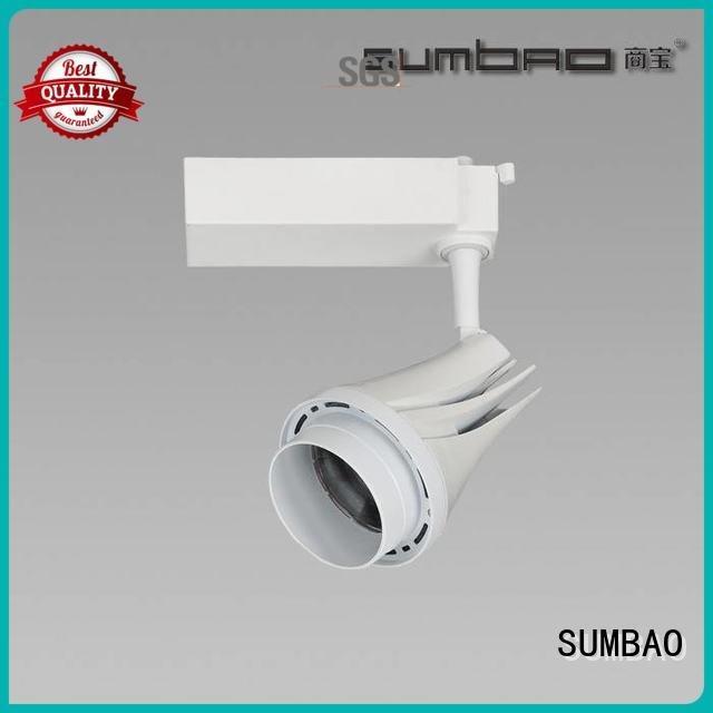 Dumb white track light bulbs angles SUMBAO Brand LED Track Spotlight Specification grade AL Imported COB chip