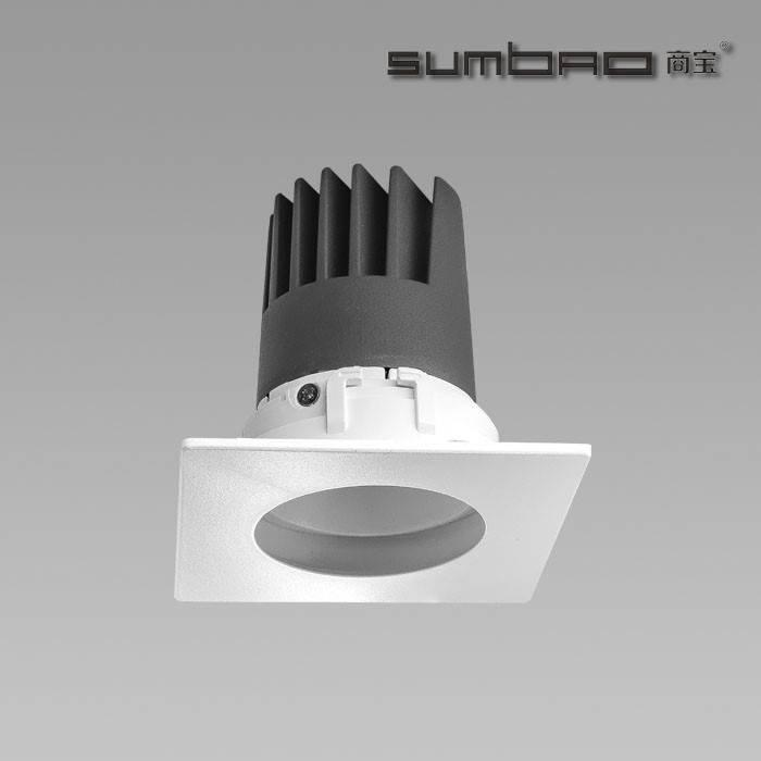 DW005-SUMBAO Professional Single Head Square Trim 10W Low Vottage Recessed Spotlights for Retail Shops, Residences Application