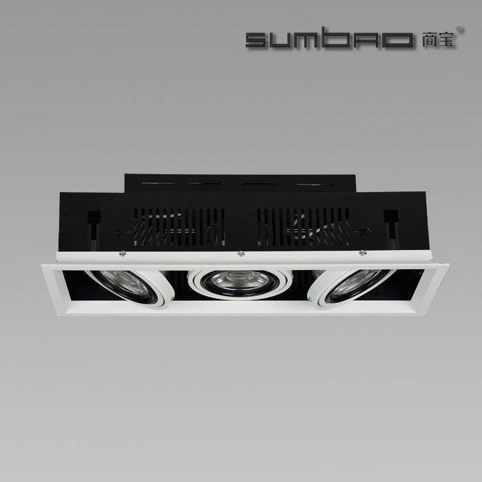 DW072-3 SUMBAO Professional Multi- Head Square Trim Recessed 10W/18W Spotlights for High End Retail Shops