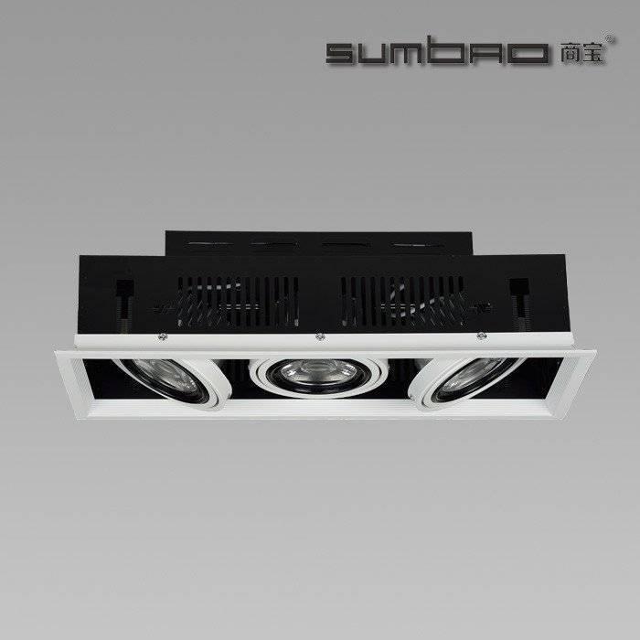 DW072-3 SUMBAO专业多头方形修剪嵌入式10W / 18W高端零售店射灯