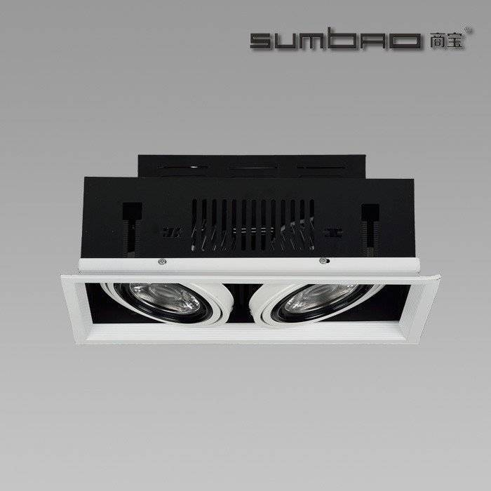 DW072-2 SUMBAO Professional Multi- Head Square Trim Recessed 10W/18W Spotlights for High End Retail Shops