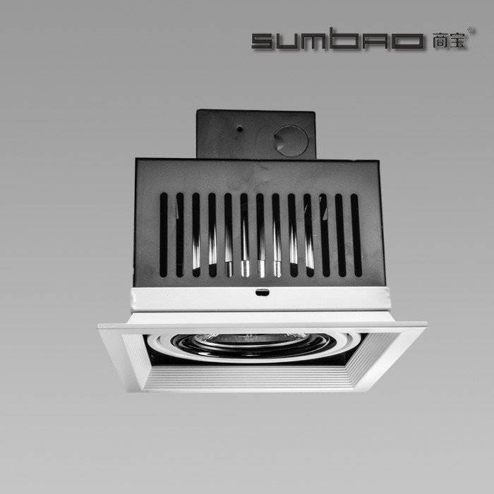 DW072-1 SUMBAO Professional Single Head Square Trim 10W/18W Recessed Spotlights for High End Retail Shops