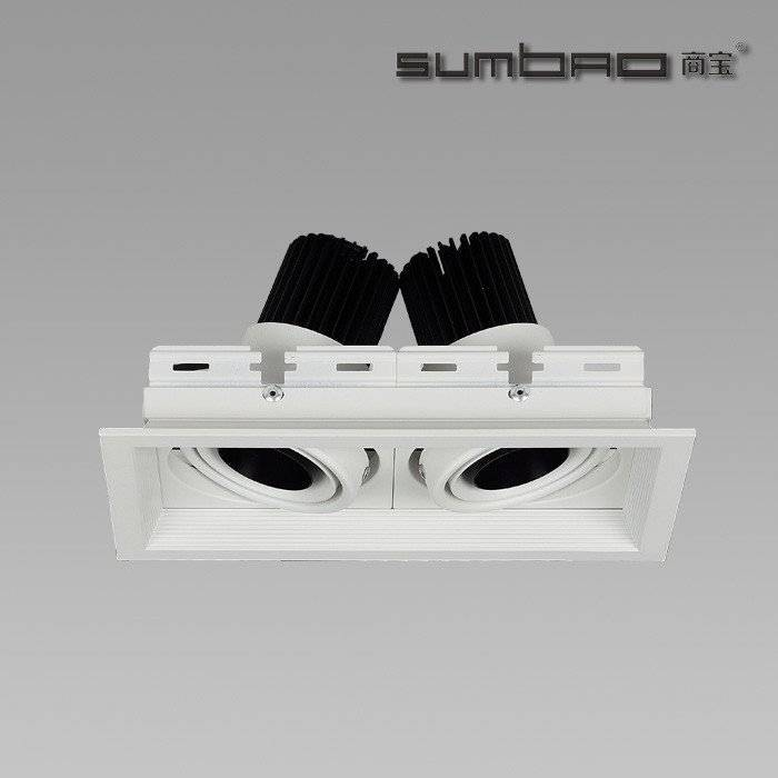 DW031-2  SUMBAO Professional Multi- Head Square Trim Recessed 6W10w Spotlights for High End Retail Shops