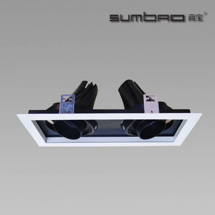 DW042-2  SUMBAO Professional Multi- Head Square Trim Recessed Spotlights for Retail Shops