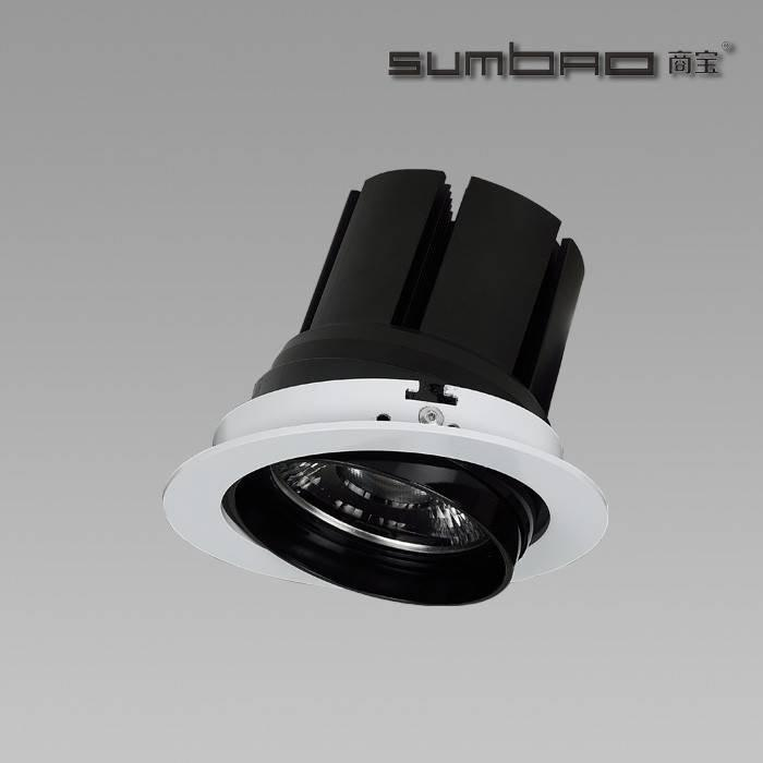 DW075 SUMBAO Professional Single Head Round Trim 24W/30W Recessed Spotlights for High End  Retail Shops, Residences Application
