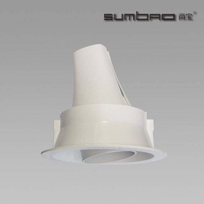 DW084 SUMBAO Professional LED COB Round Trim 18W Recessed Spotlights for High End Retail Shops, Residences Application