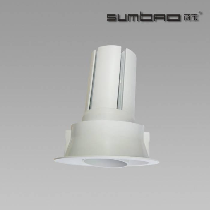 DW085 SUMBAO Professional LED COB Round Trim 24W Recessed Spotlights for High End Retail Shops, Residences Application