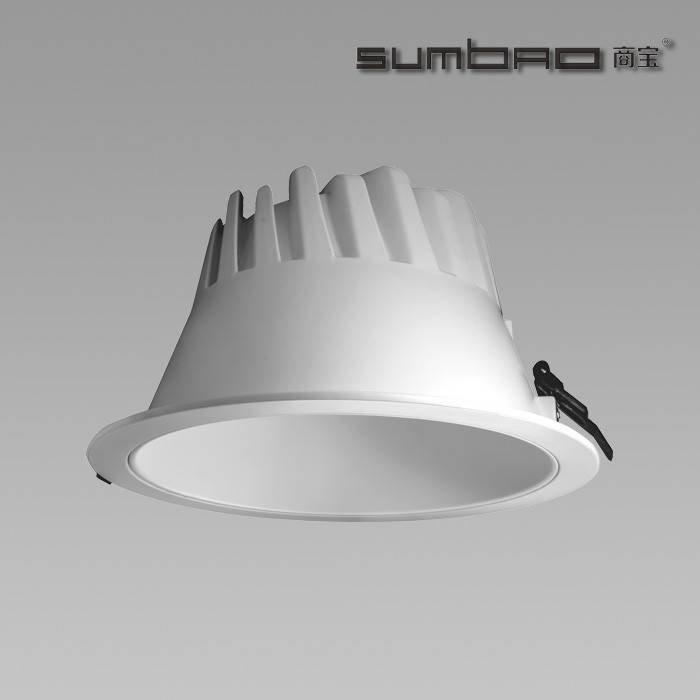 FL019 SUMBAO照明100Lm / W商业LED嵌入式灯,8英寸COB芯片LED 40W筒灯中国制造商