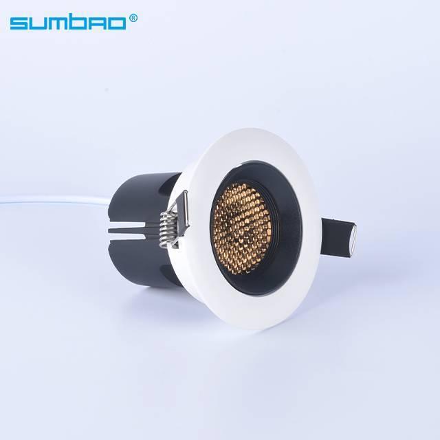 HS006 6w,12w anti-glare mini round hotel recessed spotlight