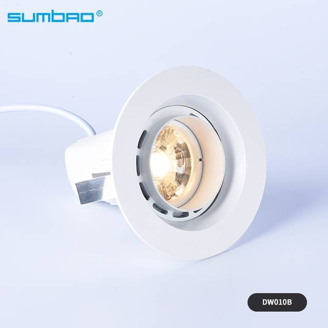 DW01OA/DW010B 6w,10w anti-glare led mini round COB led recessed spotlight reflector cup wall wash light lens light indoor