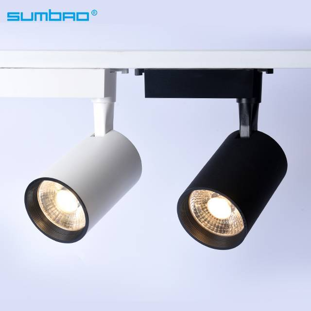 TK064 12w18w 24w COB LED track spotlight adjustable dimming lighting 3 phase anti-glare office clothing furniture shop bathroom