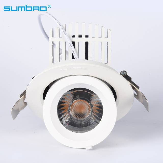 Most popular factory DW037 30w led recessed lamp round dimmable spotlight anti-glare adjustable beam angle wall washer COB LED downlight