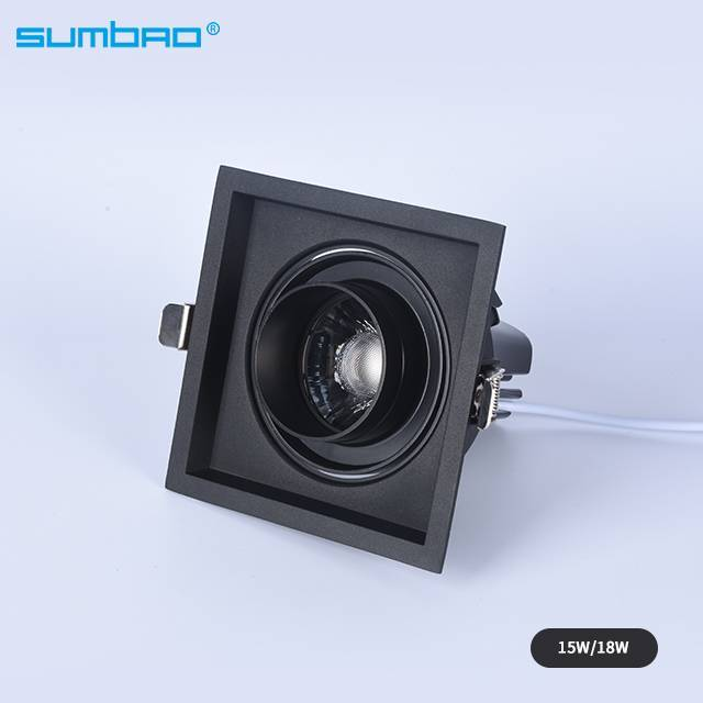 New style DW041B led recessed square dimmable spotlight anti-glare adjustable beam angle wall washer lamp