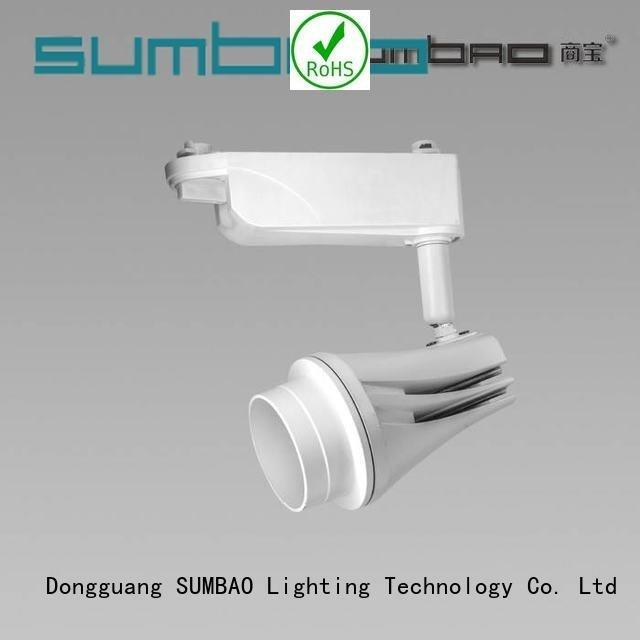 OEM cheap track lighting design Dumb black 10w18w24w LED Track Spotlight