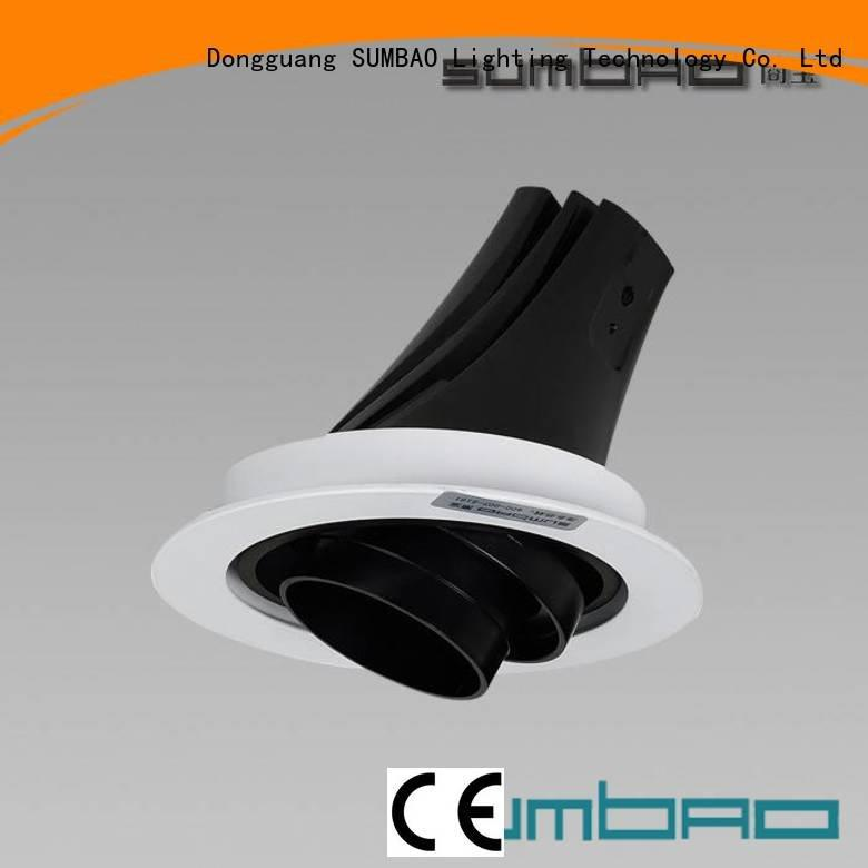 sloped ceiling recessed lighting 5 inch 18w LED Spotlight SUMBAO
