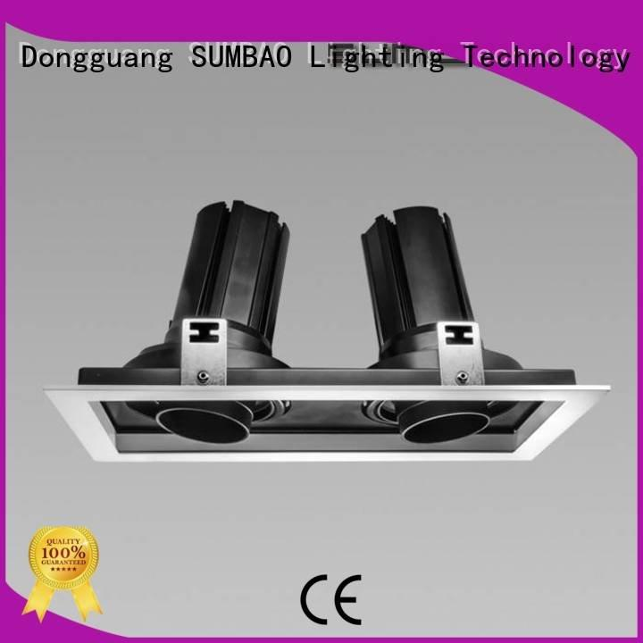SUMBAO 4 inch recessed lighting 3x10W/3x18W Supermarket multi Specification grade AL