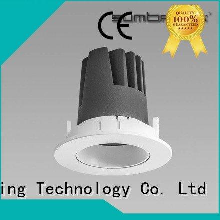 Custom dw066 LED Recessed Spotlight 3x10W/3x18W 4 inch recessed lighting